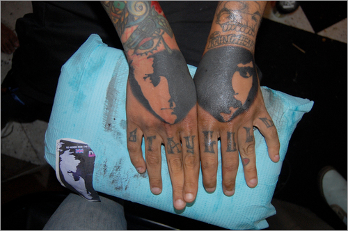 Later, Bruno described an elaborate, five-element Die Hard tattoo that he